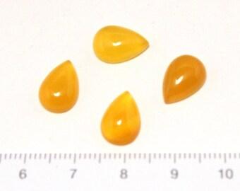 yellow agate drop cabochon 2pc/L-0004