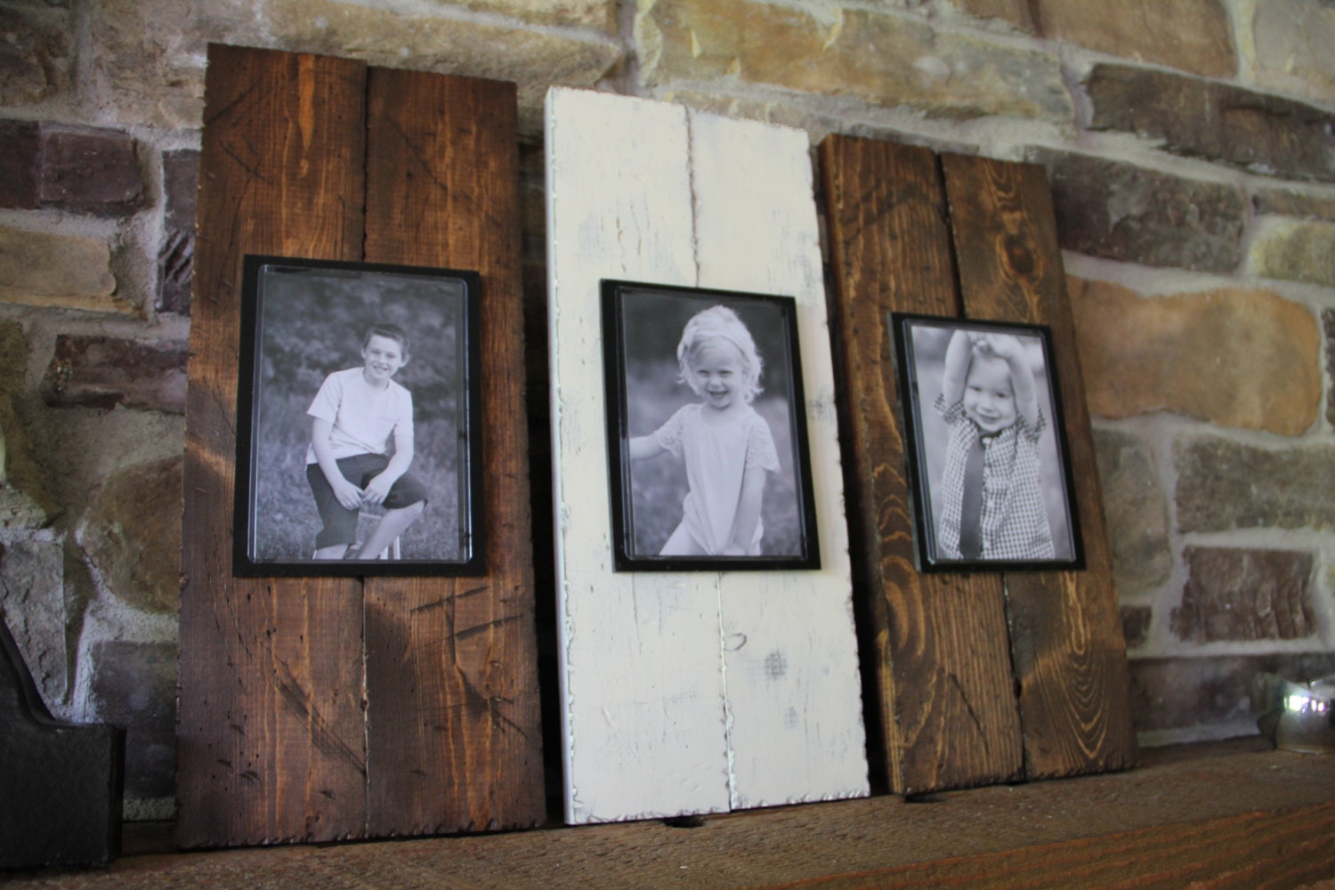 Wood Picture Frame Picture Frame Set Rustic By