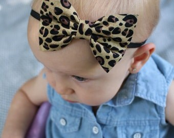 Cheetah bow headband