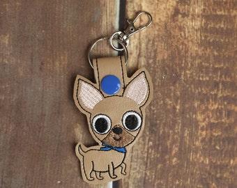 Chihuahua Keychain Key Chain Dog Luggage Tag Keychain Bag Tag