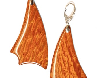 Rare Exotic Lacewood Earrings