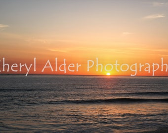Ocean sunset, ocean sunset photography, instant download, sunset photography, sunset, wall art, coastal photography, California sunset