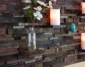 Rustic Wood Wall Art With Shelves