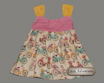Baby/Toddler/Girls Pink Bicycle Dress