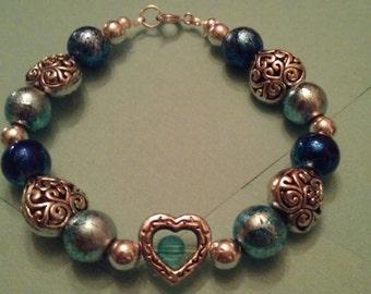 Silver Sky Heart Bracelet