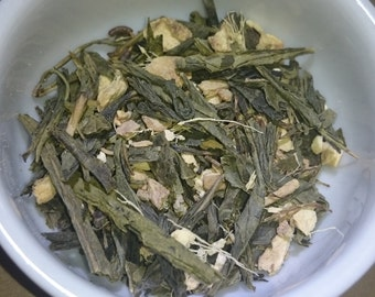 Ginger & Green Tea: Organic Herbal Tea Blend