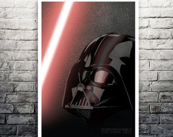 The Dark Side Darth Vader Star Wars movie poster print