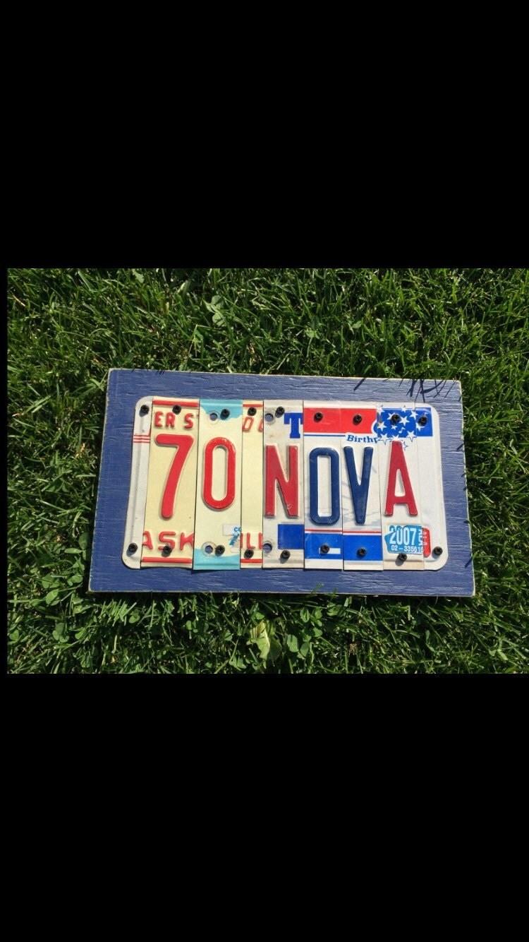 6 letter custom license plate sign for Custom license plate letters