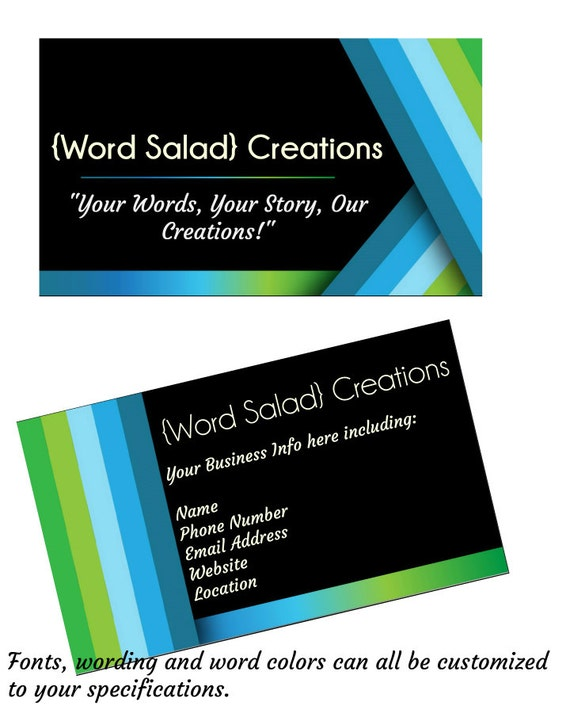 Bold and modern standard size business card by