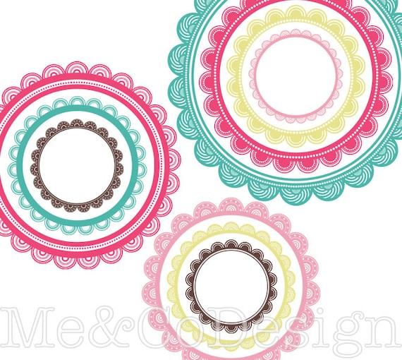 Circle Frames Clipart Fun Cute Clipart Scrapbooking Design
