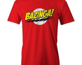 Big Bang Theory Sheldon Bazinga Logo T-shirt Classic Funny S