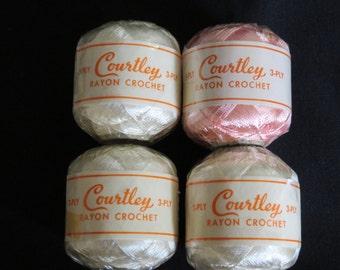 Vintage Rayon Crochet Cotton