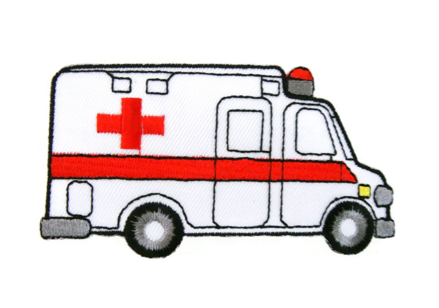 Ambulance Emergency & Rescue Car Red Cross Embroidered by ...