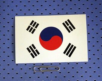South Korean Flag Bumper Sticker