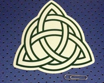 Green Celtic Knot Bumper Sticker