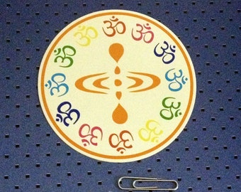 Here Now Symbol - Om Bumper Sticker