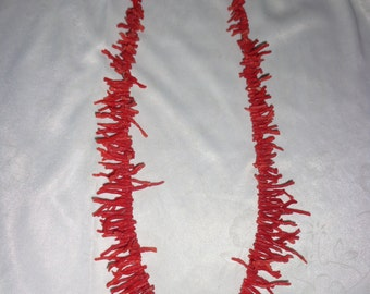 Necklace with coral branches of Alghero 70 years