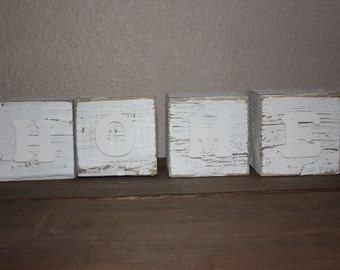 Wood Block decor- HOME