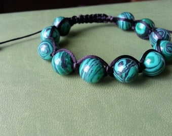 Malachite bracelet Shambala