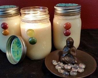 100% Coconut Wax Sandalwood Rose Coconut Wax Candle 16 oz.Mason Jar