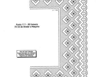 Pattern, chopped wedding handkerchiefs. Bobbin lace