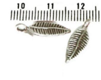 2 x Hill Tribe Silver Leaf Charms, 15mm, Fair Trade, fine silver, jewellery making, charms, silver leaf charms
