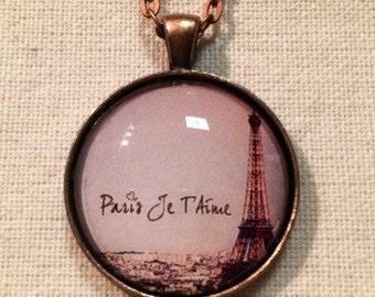 Paris Je T'Aime Pendant Necklace