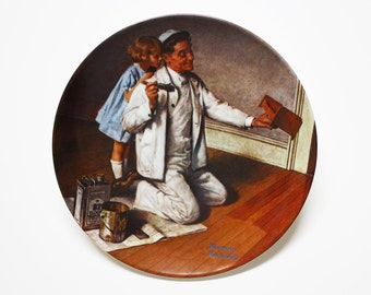 Norman Rockwell The Painter, Collectible Plates, Norman Rockwell Plate, Edwin Knowles Collectible Plates, Norman Rockwell, Decorative Plates