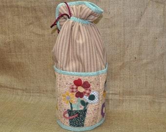 Knitting Bag, Sewing Bag, Patchwork Bag, Applique Bag, Drawstring Bag
