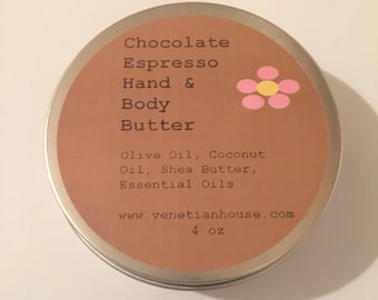 Chocolate Espresso Hand and Body Butter - 4 oz.
