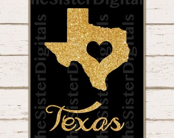 Texas Sign - I love Texas Sign - Texas Printable Design 8x10 JPG DIY Instant Download Digital Files Only
