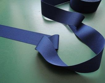 Grosgrain ribbon | Gros Grain | Polyester | 40 mm | 1.57 inch | darkblue