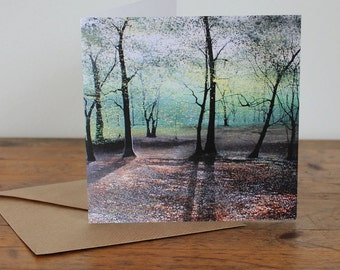 Nothing But a Shadow - Fine Art card - Trees - Woodland