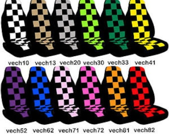 Checkered Car Seat Covers....Many Colours...All Cars..