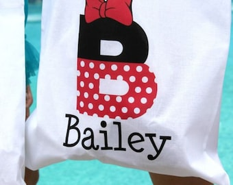Personalized Minnie Mouse Tote Bags