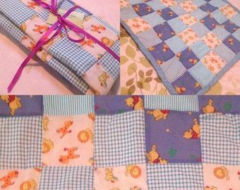 Handmade Winnie the Pooh Baby Boy Patchwork Quilt