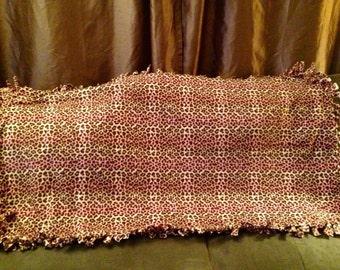 Enjoy this Small pink zebra fleece blanket