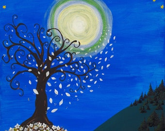 Moonlight's Autumn Dance Print (Giclee or Ready to Frame)