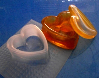 resin mold box, heart box