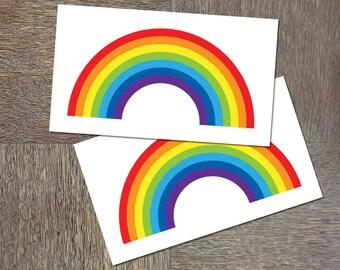 Rainbow temporary tattoo (set of 2)