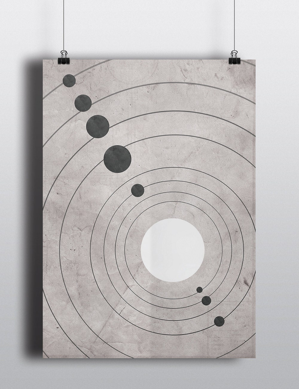 science poster solar system minimalist home decor wall art. Black Bedroom Furniture Sets. Home Design Ideas