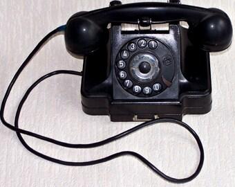 Retro Rotary Phone. Vintage Ship-Board Type Telephone. Soviet Navy Telephone. VERY RARE.