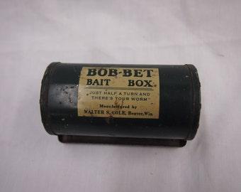 Vintage Bob-Bet Bait Box