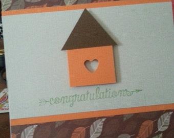 "Handmade ""congratulations""  house warming card"