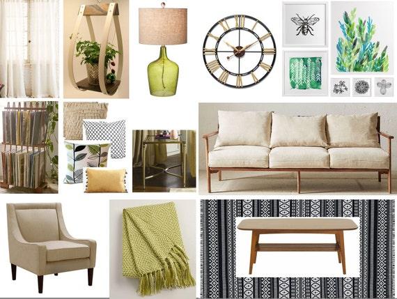 Mid Century Modern Bohemian Living Room By Shinteriorsandevents