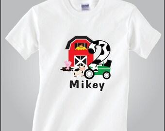 Personalized Farm Animal Birthday Shirt