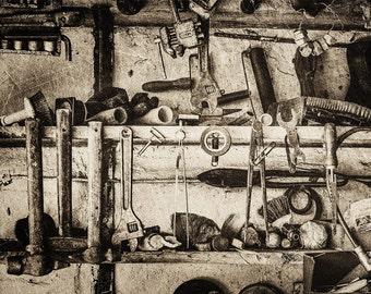 vintage old garage