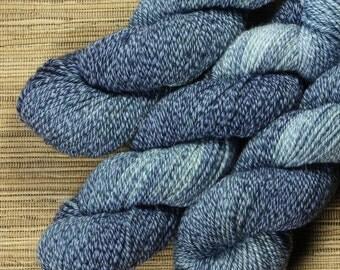 Hand dyed yarn - 50g Cotton/ Merino DK/ 8 ply in 'Denim'