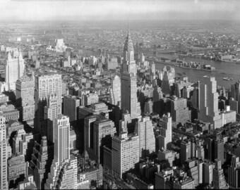 Picture New York skyscraper black white screen picture