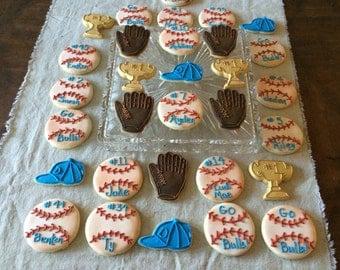 2 doz baseball cookies